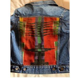 Vintage Levi's Hand Embroidered Aztec Jean Jacket